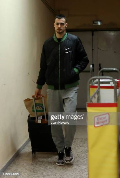 Alberto Abalde, #6 of Valencia Basket arriving to the arena prior to the 2019/2020 Turkish Airlines EuroLeague Regular Season Round 23 match between...
