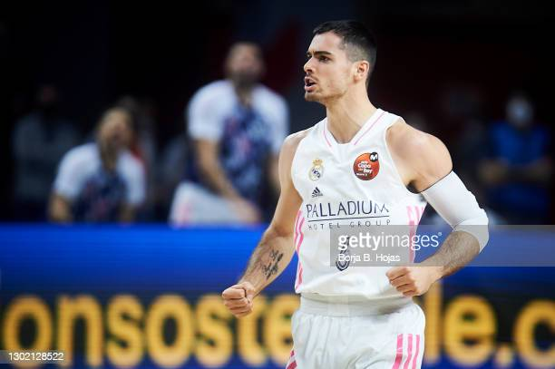 Alberto Abalde of Real Madrid during Finals King's Cup match between Real Madrid and Barsa at Wizink Center on February 14, 2021 in Madrid, Spain.