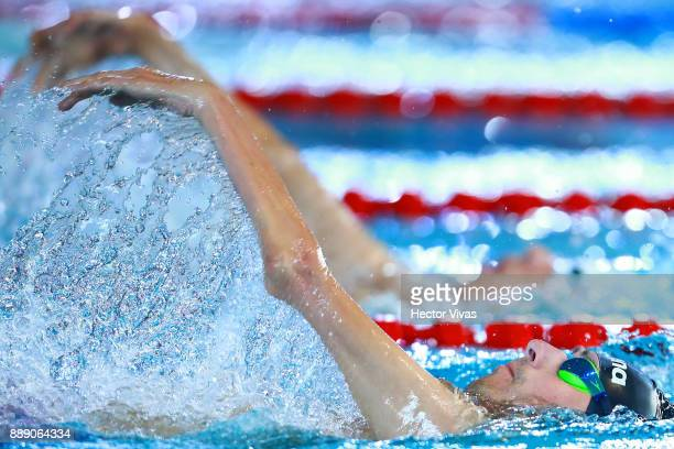 Alberto Abarza of Chile competes in Men's 100 m Backstroke S12 during day 6 of the Para Swimming World Championship Mexico City 2017 at Francisco...