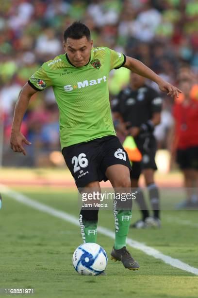 Alberto Acosta of Juarez controls the ball during the 5th round match between FC Juarez and Queretaro as part of the Torneo Apertura 2019 Liga MX at...