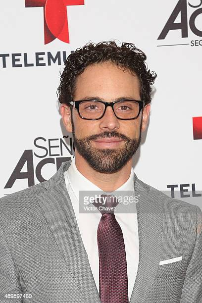 Alberto Agnesi attends 'Senora Acero' second season premiere red carpet at Cinepolis Plaza Carso on September 22 2015 in Mexico City Mexico