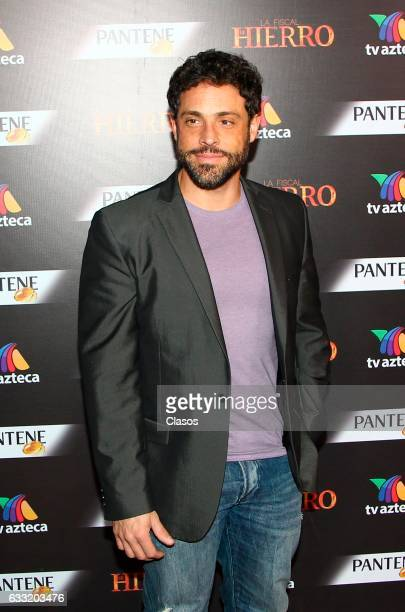 Alberto Agnesi poses during the premiere of 'La Fiscal de Hierro' TV serie for TV Azteca at Lunario del Auditorio Nacional on January 31 2017 in...