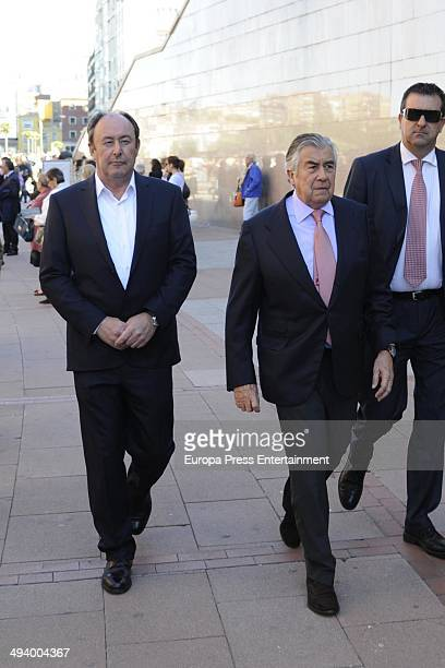 Alberto Alcocer and Luis Miguel Rodriguez attend San Isidro Fair on May 23 2014 in Madrid Spain