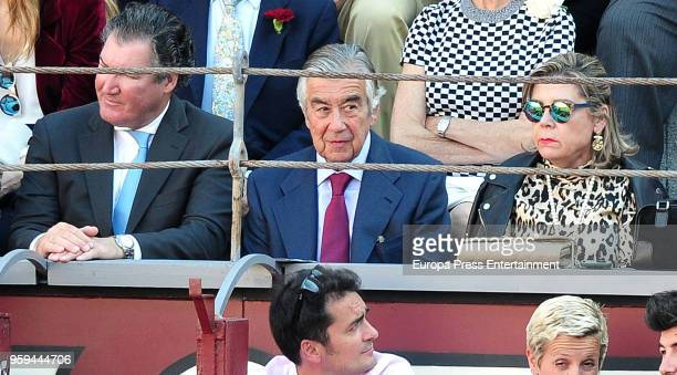 Alberto Alcocer and Pablo Santos Tejedor attend a bullfighting of San Isidro Fair at Las Ventas bullring at Las Ventas Bullring on May 16 2018 in...