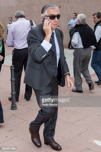 Alberto Alcocer attends bullfighting during San Isidro Fair at Las Ventas Bullring on May 25 2016 in Madrid Spain