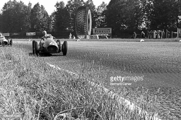 Alberto Ascari, Ferrari 500, Grand Prix of Italy, Autodromo Nazionale Monza, 13 September 1953. Pole position sitter Alberto Ascari in the...