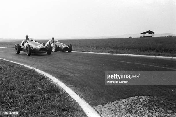 Alberto Ascari, Ferrari 500, Maserati A6GCM, Grand Prix of France, Reims-Gueux, 05 July 1953.