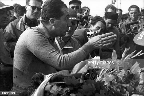 Alberto Ascari, Grand Prix of Germany, Nurburgring, 02 August 1953. An unhappy Alberto Ascari after the finish of the 1953 German Grand Prix at the...