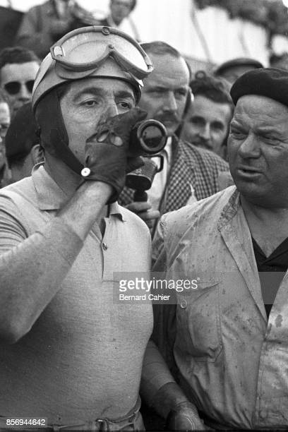 Alberto Ascari, Grand Prix of Great Britain, Silverstone Circuit, 18 July 1953. Alberto Ascari, exhausted after his win in the 1953 British Grand...