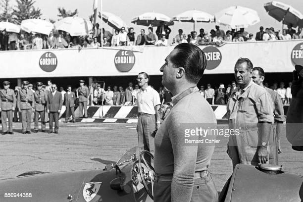 Alberto Ascari Grand Prix of Italy Autodromo Nazionale Monza 13 September 1953 Alberto Ascari standing for the Italian National Anthem in Monza on...