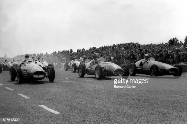 Alberto Ascari, Juan Manuel Fangio, Nino Farina, Ferrari 500, Maserati A6GCM, Grand Prix of Netherlands, Zandvoort, 07 June 1953.