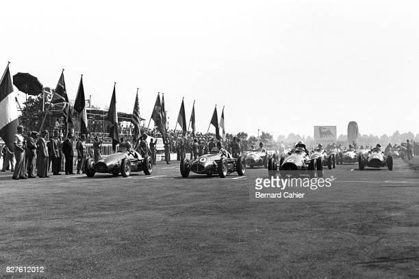 Alberto Ascari, Juan Manuel Fangio, Nino Farina, Ferrari 500, Maserati A6GCM, Grand Prix of Italy, Monza, 13 September 1953.