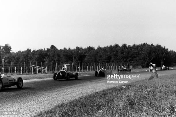 Alberto Ascari, Juan Manuel Fangio, Nino Farina, Ferrari 500, Maserati A6GCM, Grand Prix of Italy, Autodromo Nazionale Monza, 13 September 1953....
