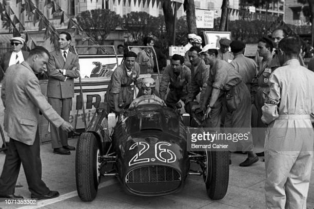 Alberto Ascari, Lancia D50, Grand Prix of Monaco, Circuit de Monaco, 22 May 1955. Alberto Ascari during practice in the Lancia D50, in what would be...