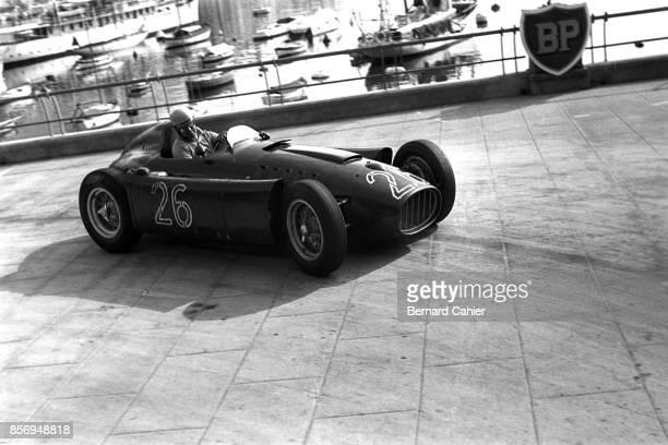 Alberto Ascari Lancia D50 Grand Prix of Monaco Circuit de Monaco 22 May 1955 Alberto Ascari at the wheel of the Lancia D50 in the 1955 Monaco Grand...
