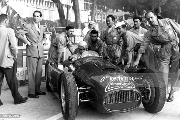 Alberto Ascari, Lancia D50, Grand Prix of Monaco, Circuit de Monaco, 22 May 1955. Alberto Ascari at the wheel of the Lancia D50 in the 1955 Monaco...