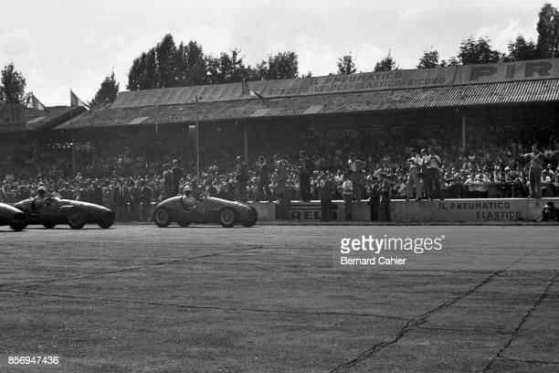 Alberto Ascari, Maurice Trintignant, Ferrari 500, Gordini T16 Straight-6, Grand Prix of Italy, Autodromo Nazionale Monza, 07 September 1952. Alberto...