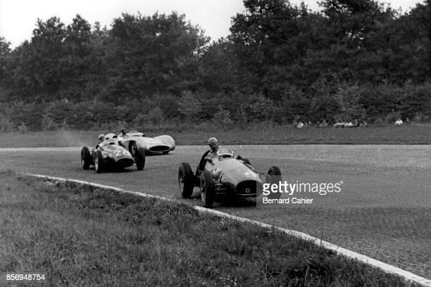 Alberto Ascari, Stirling Moss, Juan Manuel Fangio, Ferrari 625 OR Ferrari 553 OR Ferrari 500, Maserati 250F, Mercedes W196, Grand Prix of Italy,...