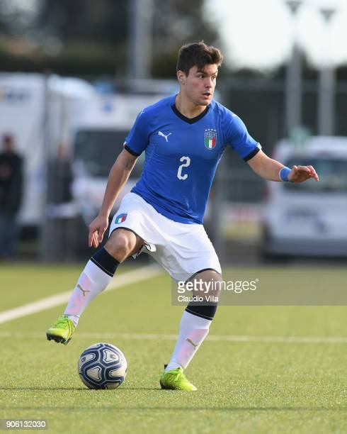 Alberto Barazzetta of Italy in action during the U17 International Friendly match between Italy and Spain at Juventus Center Vinovo on January 17...