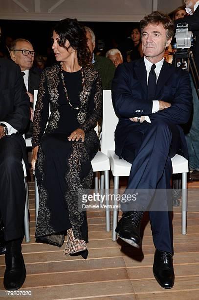 Alberto Barbera, Actress Sabrina and Flavio Cattaneo Ferilli attends Premio Kineo Ceremony during the 70th Venice International Film Festival at...