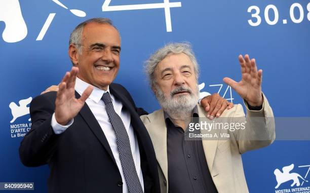 Alberto Barbera and Gianni Amelio attend the Jury photocall during the 74th Venice Film Festival on August 30 2017 in Venice Italy