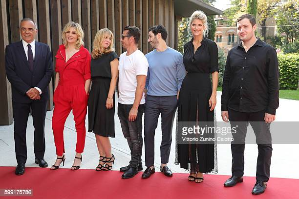 Alberto BarberaActress Emmanuelle Seigner director Katell Quillevere actors Kool Shen Tahar Rahim Alice Taglioni and Karim Leklou attends the...