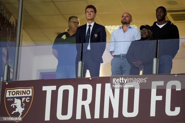 Alberto Barile Gianluca Petrachi and Ola Aina attend the TIM Cup football match between Torino FC and Cosenza Calcio The media says that Ola Aina...