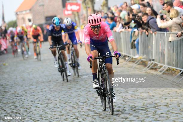Alberto Bettiol of Italy and Team Ef Education First / Oude Kwaremont / Cobblestones / Fans / Public / during the 103rd Tour of Flanders 2019 Ronde...