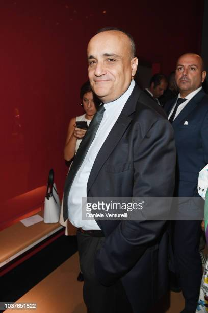 Alberto Bonisoli attends the Salvatore Ferragamo show during Milan Fashion Week Spring/Summer 2019 on September 22 2018 in Milan Italy