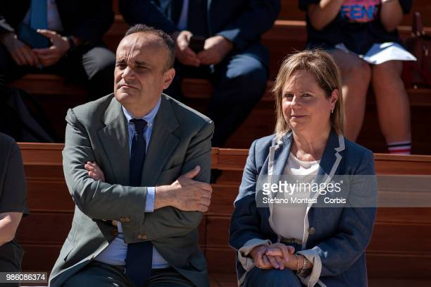 Alberto Bonisoli Minister for Cultural Heritage and Activities and Tourism and Alfonsina Russo Director of the Archaeological Park of the Colosseum...