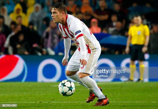 Alberto Botia during Champions League match between FC Barcelona v Olympiakos FC in Barcelona on October 18 2017