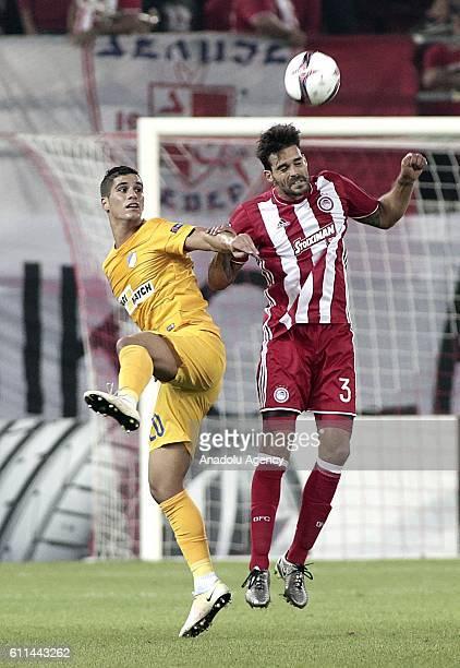 Alberto Botia of Olympiacos in action during the UEFA Europa League group B football match between Olympiacos and Apoel Nicosia at Karaiskakis...