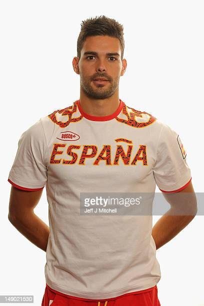 Alberto Botia poses during a Spain Men's Official Olympic Football Team portrait session on July 22 2012 in Glasgow Scotland