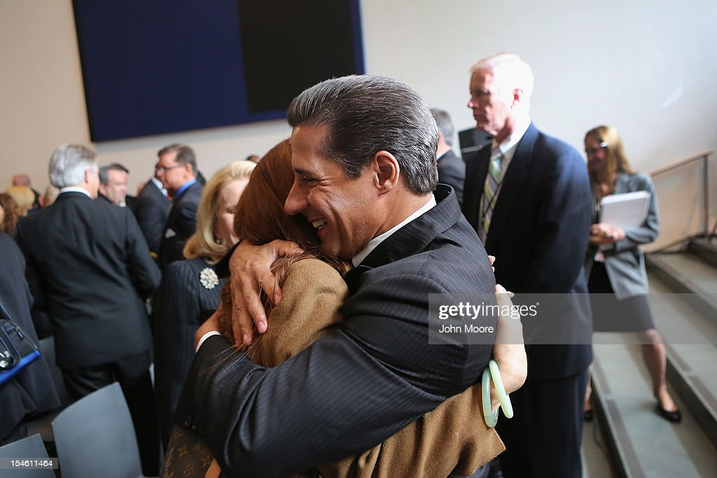 Alberto Carvalho, superintendent of the Miami-Dade County Public Schools, celebrates after Miami-Dade won the 2012 Broad Prize for Urban Education on October 23, 2012 in New York City. The award recognizes a large school district making the greatest progress nationwide in raising overall student achievment while reducing achievement gaps in low-income and minority students. Miami-Dade, a five-time finalist, will receive $550,000 in college scholarships for its high school seniors. The three other finalists, Corona Norco, Houston and Palm Beach, each receive $150,000 in scholarships.