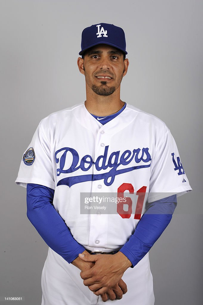 Alberto Castillo #61 of the Los Angeles Dodgers poses during Photo Day on Friday, March 2, 2012 at Camelback Ranch in Glendale, Arizona.