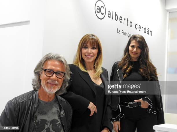 Alberto Cerdan Edurne and Sara Salamo attend Cosmobeauty on January 20 2018 in Barcelona Spain