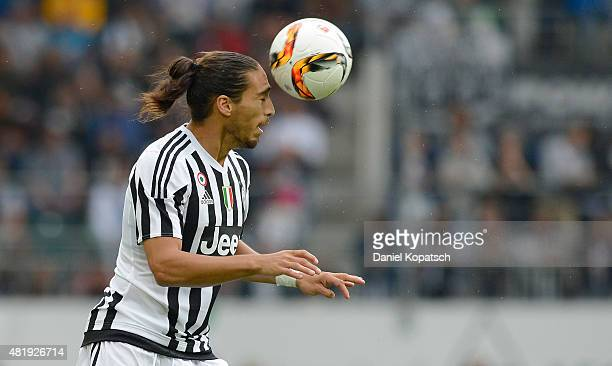 Alberto Cerri of Juventus controls the ball during the friendly match between Juventus and Borussia Dortmund on July 25 2015 in St Gallen Switzerland