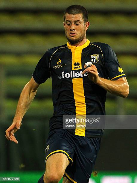 Alberto Cerri of Parma FC in action during the preseason friendly match between FC Parma and AS Monaco FC at Stadio Ennio Tardini on July 28 2014 in...
