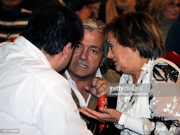 Alberto Closas jr and Marian Conde attend 'Rastrillo Nuevo Futuro' at La Pipa in Casa de Campo on November 23 2010 in Madrid Spain