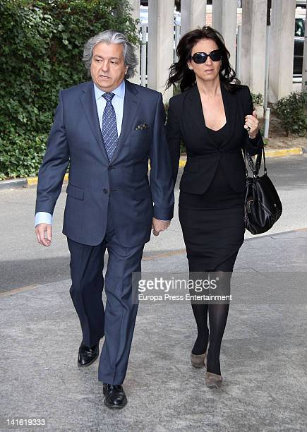 Alberto Closas jr attends the funeral chapel for Paco Valladares on March 18 2012 in Madrid Spain