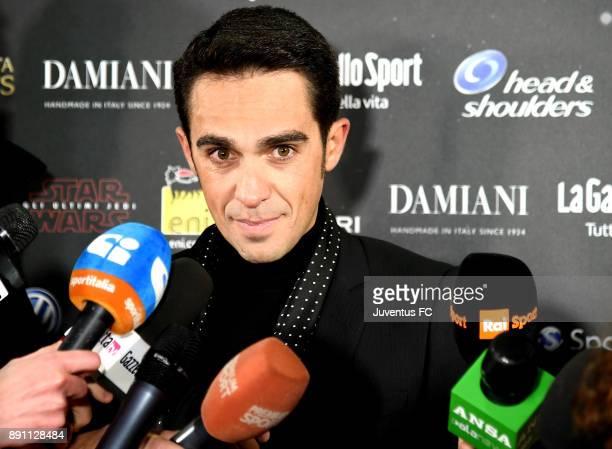 Alberto Contador attends the Gazzetta Sports Awards on December 12 2017 in Milan Italy
