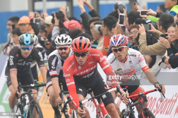 Alberto CONTADOR leads the four men breakaway group during the 1st TDF Shanghai Criterium 2017 On Sunday 29 October 2017 in Shanghai China