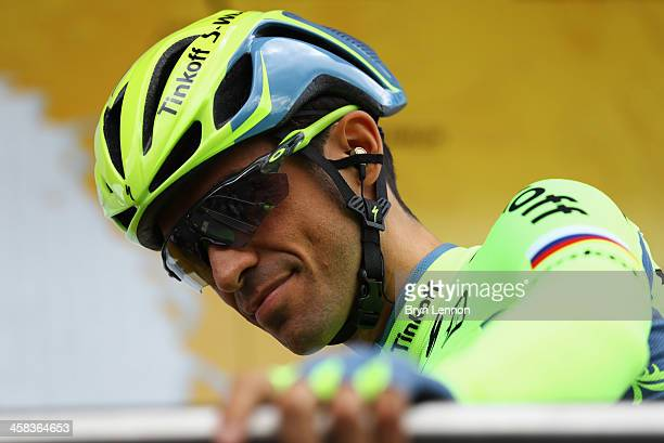 Alberto Contador of Spain and Tinkoff looks on Stage One of Le Tour de France 2016 on July 2 2016 in Le MontSaintMichel France Le MontSaintMichel...