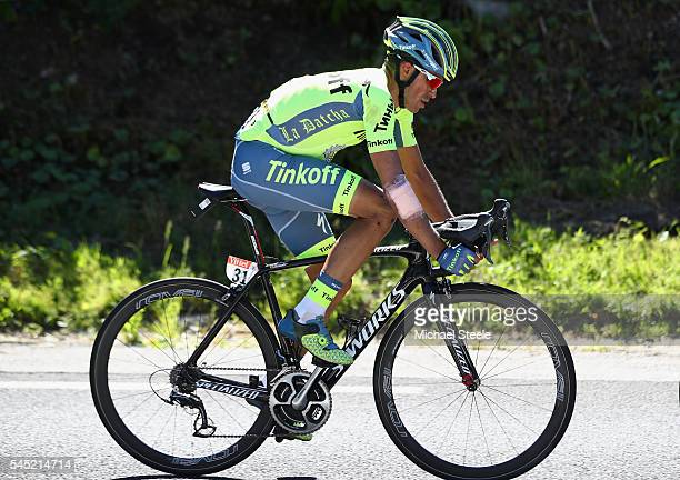 Alberto Contador of Spain during the 216km stage five of Le Tour de France from Limoges to Le Lioran on July 6 2016 in Limoges France