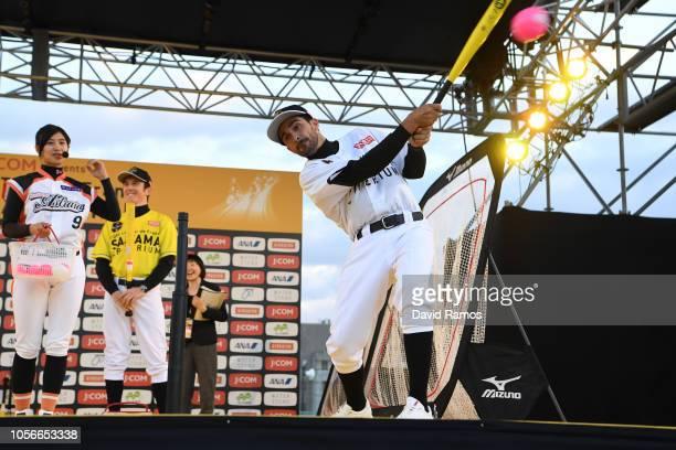 Alberto Contador of Spain Ex Pro-cyclist developing his skills in baseball during the 6th Tour de France Saitama Criterium 2018 - Media Day /...