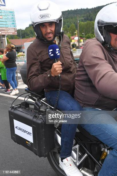 Alberto Contador of Spain Ex Pro-cyclist TV commentator / during the 106th Tour de France 2019, Stage 6 a 160,5km stage from Mulhouse to La Planche...