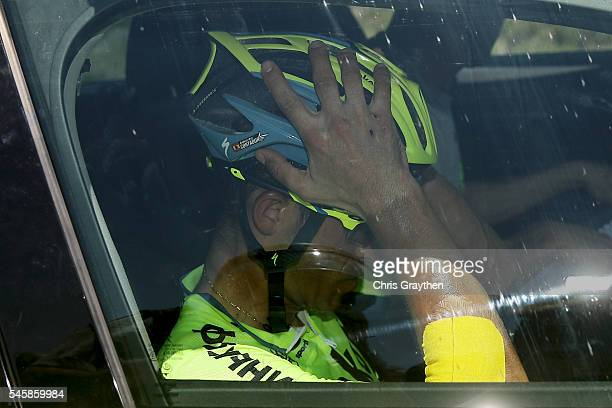 Alberto Contador of Spain riding for Tinkoff abandons the race during stage nine of the 2016 Le Tour de France, a 184.5km stage from Vielha Val...