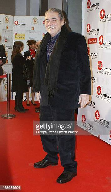 Alberto Cortez attends the public relations Richie Castellanos's party to enjoy his best friends at AIE headquarters on February 13 2012 in Madrid...