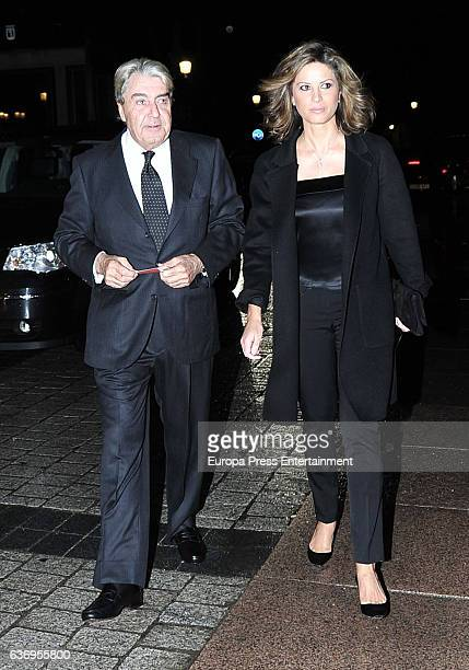 Alberto Cortina and Elena Cue attend the premiere of the opera 'Norma' at Royal Theatre on October 20 2016 in Madrid Spain