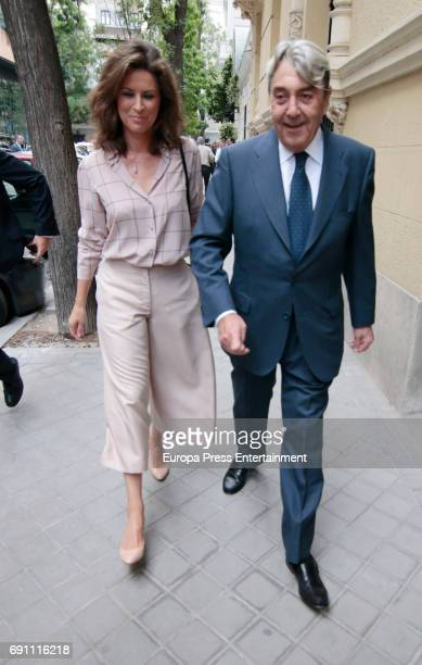 Alberto Cortina and Elena Cue attend the private party for the opening of Norman Foster Foundation on May 31 2017 in Madrid Spain